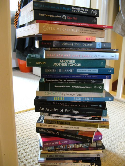 photo of bookstack poem