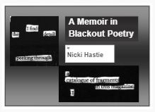 Cover image of A Memoir in Blackout Poetry